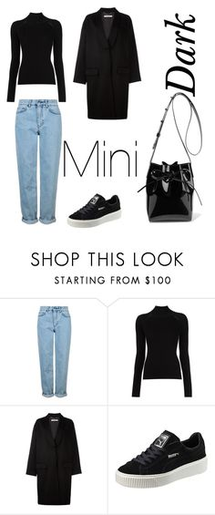 """""""Dark mini"""" by awksilence on Polyvore featuring Topshop, Misha Nonoo, Givenchy, Puma and Mansur Gavriel"""