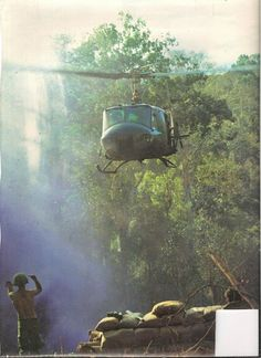 Chopper incoming during Vietnam War