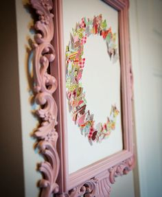 Beautiful butterfly nursery, but this wall art would be precious in any girls room!