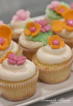 simple homemade baby shower cakes for girls RECIPES   Baby Girl Flower Cupcakes