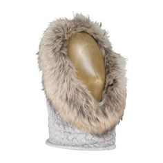 INVERNI KNITTED SNOOD  Cable knit cashmere with fox fur trim One size    £285.00