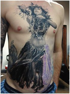 Carlos Torres  20 hours in on an amazing tattoo.