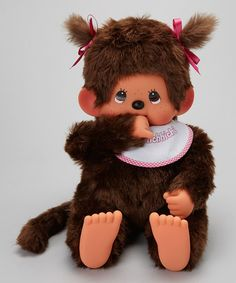 Take a look at this 18'' Pigtail Monchhichi Girl on zulily today!