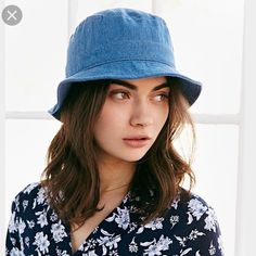 BDG Blue denim bucket hat Lovely hat for summer! Never worn. Urban Outfitters Accessories Hats