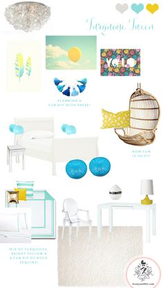 Honey and Fitz Turquoise Tween Room