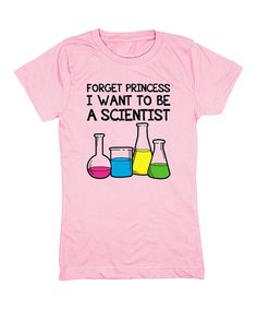 Loving this Geek Garb Light Pink 'Forget Princess' Fitted Tee - Girls on #zulily! #zulilyfinds