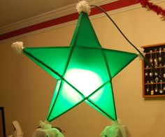 Making a Parol - a Filipino traditional star-shaped Christmas lantern, is something I loved doing growing up. It is mainly made up of bamboo, strings, and japanes. Christmas Parol, Christmas Lanterns, Christmas Star, Christmas Crafts, Christmas Decorations, Holiday Decorating, Christmas Ideas, Star Lanterns, Paper Lanterns