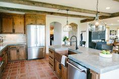 custom alder cabinets and island