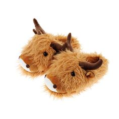 81be1eb03d8 Aroma Home Shoes Unisex Adults  Highland Cow Open Back Slippers