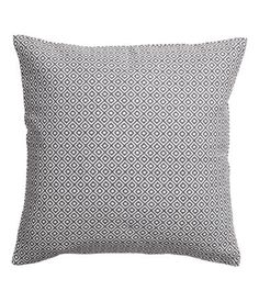 Jacquard-weave cushion cover with a concealed zip. Size 20 x 20 in. Square Pillow Covers, Cushion Covers, Throw Pillow Covers, Throw Pillows, Woven Fabric, Cotton Fabric, Sunken Living Room, Lounge Decor, Cover Gray