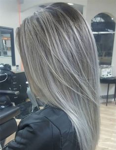 ideas hair color highlights for grey going gray for 2019 ideas hair color highlights for grey going gray for 2019 Related posts:longer silver hairTascha, with silver hair blazing.In search of the perfect crossbody bag Ash Blonde Balayage, Brown Blonde Hair, Blonde Grise, Gray Hair Highlights, Chunky Highlights, Full Highlights, Caramel Highlights, Ash Hair, Teal Hair