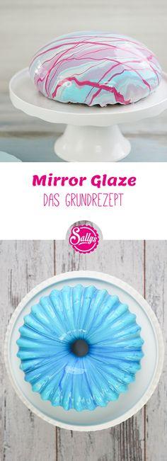 Mirror Glaze ist eine Spiegelglasur für Torten und Gebäck. Sie wird auf gefrosteten Torten und Törtchen verwendet und verleiht den Torten einen wunderschönen Spiegelglanz. Mein Grundrezept ist einfach in der Herstellung. Die Torten können vorher vorbereitet und eingefroren werden.