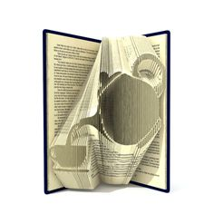 Book folding pattern TEAPOT and CUP 239 by SimplexBookFolding
