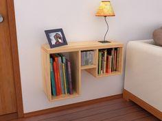 Handmade Bedside Tables, Bedside Table Design, Wood Shelves, Rustic Shelves, Furniture Design, Home Furniture, Decorative Shelf, Bedside Shelf, Modern Homes