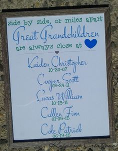 Sife by side or miles apart framed sign. Www.facebook.com/brittanysrainbowcreations