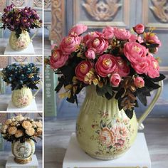 Home Decorations For Wedding Party Or Birthday Always Buy Good Health & Beauty 3 Heads Latex Rose Small Buds Artificial Flowers Real Touch Rose Flowers