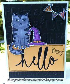 Evergreen Memories: August Stamp of the Month Blog Hop: Purr-fect Halloween