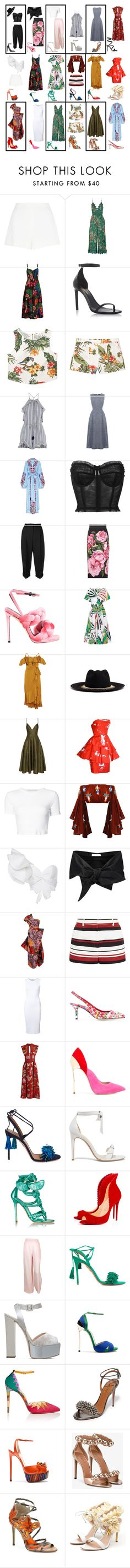 """Havana Vacation"" by k-zaldi ❤ liked on Polyvore featuring Giambattista Valli, Zimmermann, Valentino, Yves Saint Laurent, MANGO, Warehouse, Yuliya Magdych, Dolce&Gabbana, Marco de Vincenzo and Emilio Pucci"