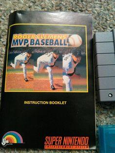 Roger Clemens MVP Baseball 1991 SNES Super Nintendo