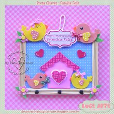 Doce Arte by Pati Guerrato: Casa & Cia Kids Crafts, Foam Crafts, Diy And Crafts, Arts And Crafts, Paper Crafts, Diy Y Manualidades, Class Decoration, Baby Cards, Creative Kids