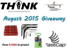 Think Woodworks August 2015 Fastcap Giveaway