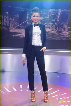 Zendaya : BETs 106 & Park Pair | zendaya trevor jackson 106 park 02 - Photo Gallery | Just Jared Jr.