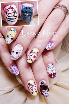 Alice in Wonderland nails.