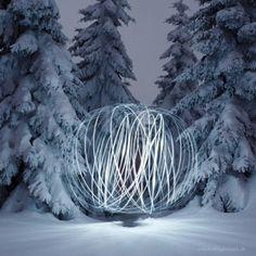 Amazing #winter #wonderland light painting by Lightmark.