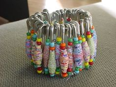 Paper Beads.  Fun project for Grandkids.
