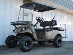 This 2007 E Z Go Street Ready Custom Gas Golf Car Is Equipped For All