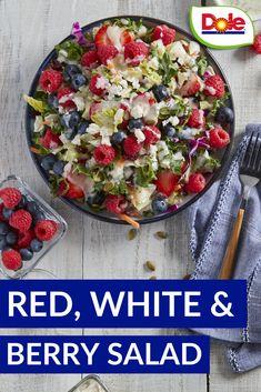 Summer Salad Recipes, Healthy Salad Recipes, Summer Salads, Raw Food Recipes, Dinner Recipes, Cooking Recipes, Healthy Cooking, Healthy Eating, Fourth Of July Food