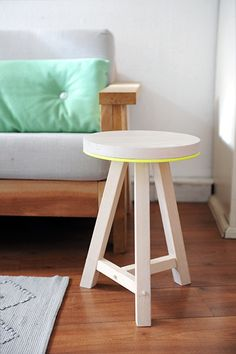 Stool with neon accent