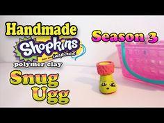 Season 3 Shopkins: How To Make Snug Ugg Polymer Clay Tutorial! - YouTube