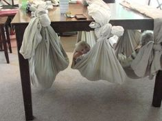 Make your own hammocks - Ways to Make the Most of Rainy Days with Your Kids - Photos