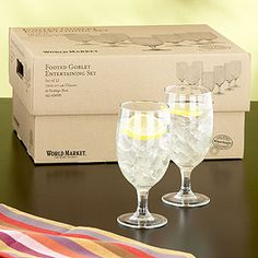 Multi-purpose ! - Footed Goblet Entertaining Set, Set of 12 | Wine Glasses and Decanters | World Market