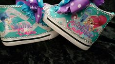 Custom limited edition SHIMMER and SHINE shoe - SWALKERDESIGNS & TurnTo Designs