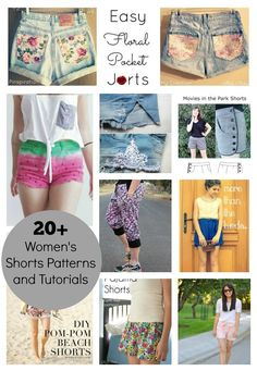20+ Women's Shorts Patterns and tutorials - so many great options!