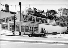 Tower records 1960s to 1990s, In North Beach on Columbus St., San Francisco, CA