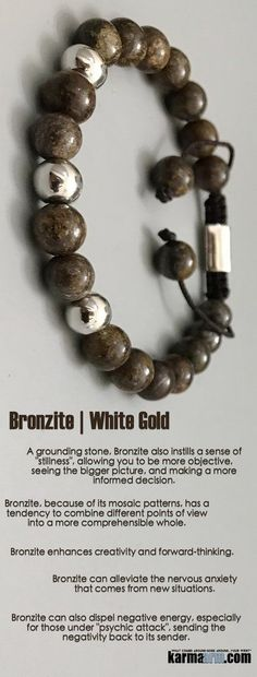 Reiki Healing Meditation Jewelry | Yoga Bracelets ♛ #Bronzite is one of the most powerful #stones for alleviating feelings of self-doubt. #reiki #Bracelets #BEADED #Gemstone #Charm #Mens #Good #Lucky #womens #Jewelry #CrystalsEnergy #gifts #Chakra #Healing #Kundalini #Law #Attraction #LOA #Love #Mantra #Mala #Meditation #prayer #mindfulness #wisdom #CrystalEnergy #Spiritual #Gifts #Mommy #Blog #Shamballa