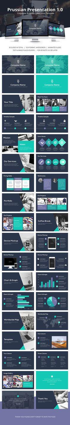 Prussian Business Keynote Template #design #slides Buy Now: http://graphicriver.net/item/prussian-business-keynote-template/12923560?ref=ksioks