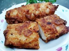 """My version of Vegan """"Fried Chicken"""" from the book """"Vegan Cooking for Carnivores"""" by Roberto Martin"""