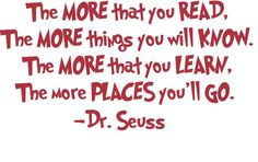 Used this reading quote in Red for DJ's reading corner. With the white gutter shelves and his red recliner it matches his Bama bedroom perfectly.