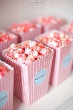 Pink caramel corn