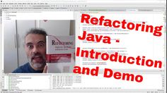 An introduction to Refactoring Java in IntelliJ with a live demo using RestMud Game https://youtu.be/YBmn53MY5QQ