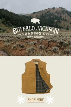 Buffalo Jackson has the best collection of men's fleece jackets, pullovers, and hoodies, plus the best button up flannel shirts. Oh, and now they have vests & leather jackets. There are no rules on how to wear their apparel. It just looks good. If you go for casual style, outfit it with jeans and boots, and you'll be good to go. Great gifts for guys! Great Gifts For Guys, Best Gifts For Men, Casual Professional, Outdoor Apparel, Men's Outerwear, Mens Fleece, Waxed Canvas, The Ranch, Men's Style