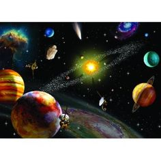 Ravensburger Solar System 300 Piece Jigsaw Puzzle for Kids - Every Piece is Unique, Pieces Fit Together Perfectly Ravensburger Puzzle, Solar System Painting, Nasa Space Pictures, Solar System Images, Solar System Wallpaper, How The Universe Works, 300 Piece Puzzles, Creation Photo, Images Google