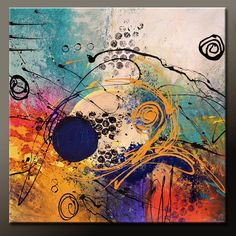 Abstract Canvas Art Painting Huge 36x36 Contemporary by wostudios, $249.00