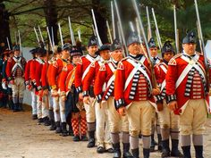 Redcoats, mostly 4th Foot