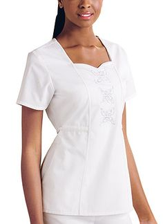 "Baby Phat ""Fabulosity"" Top in White A fabulous floral embroidery featuring a…"
