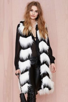 Glamorous Opposition Faux Fur Vest | Shop Wild Things at Nasty Gal